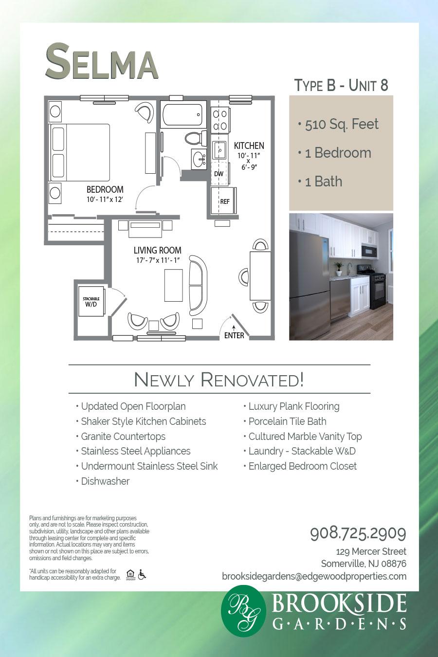 Brookside Gardens Selma B8 Floor Plan