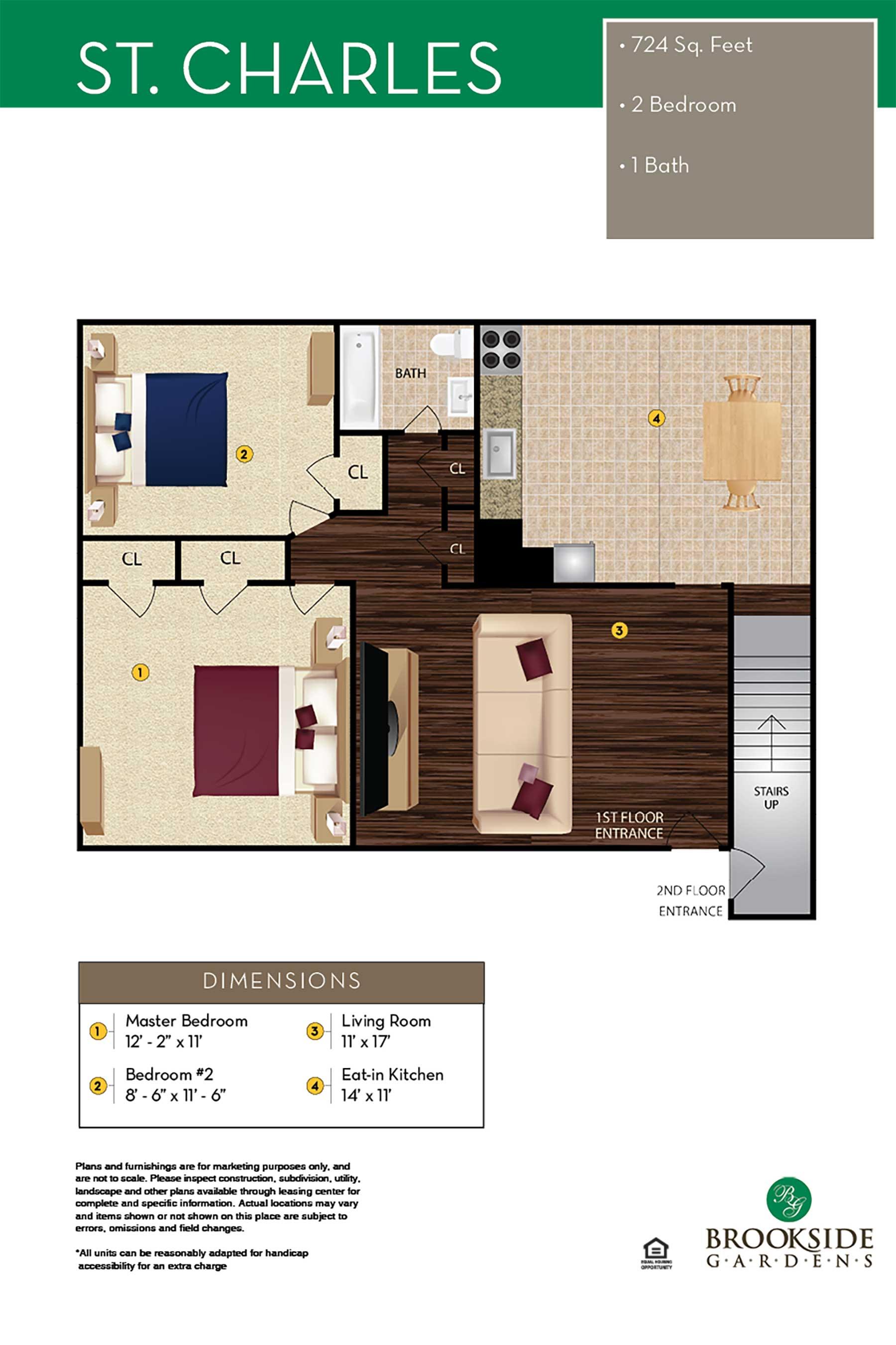 Brookside Gardens St. Charles Floor Plans