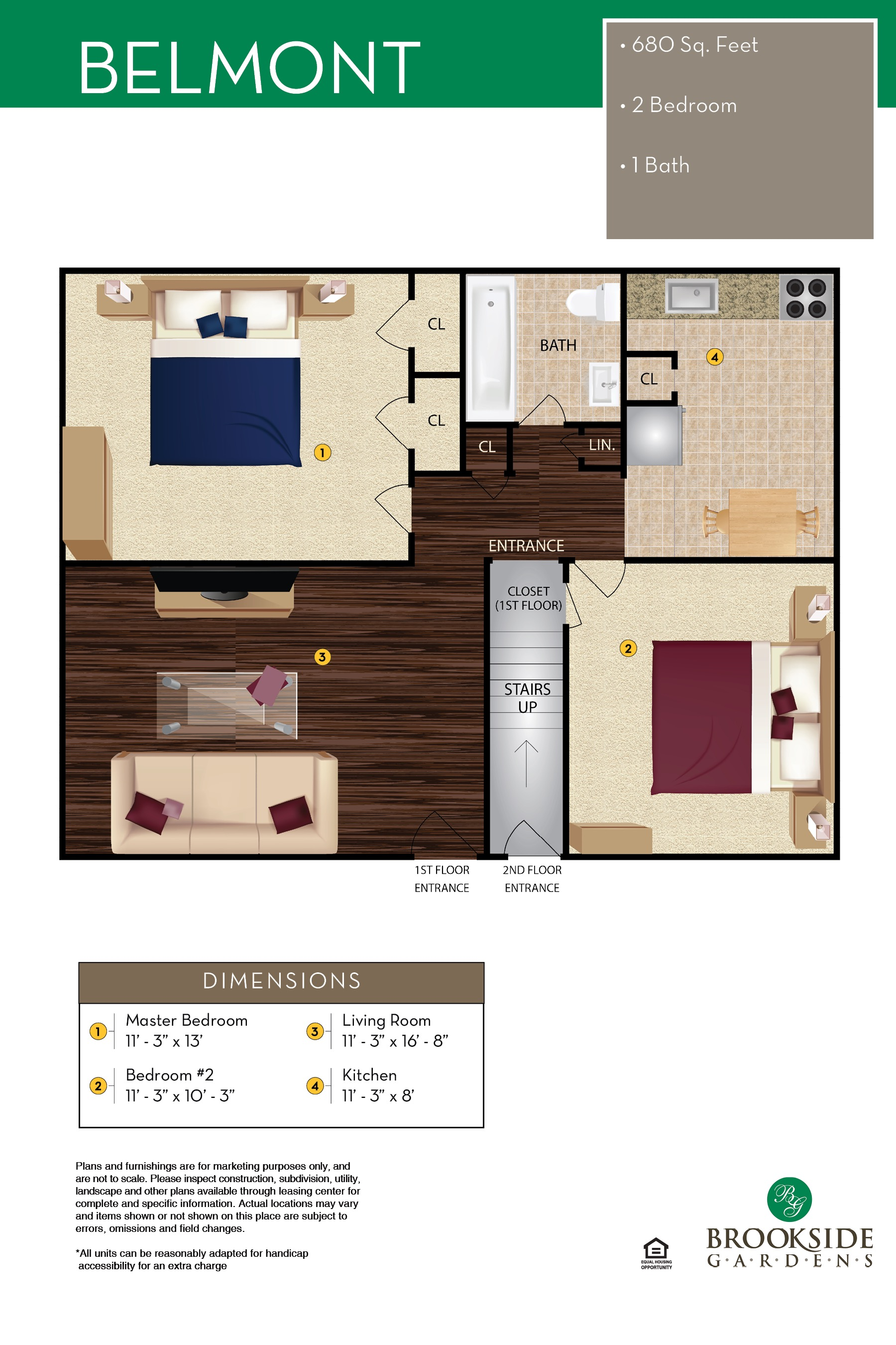 Brookside Gardens Belmont Floor Plans