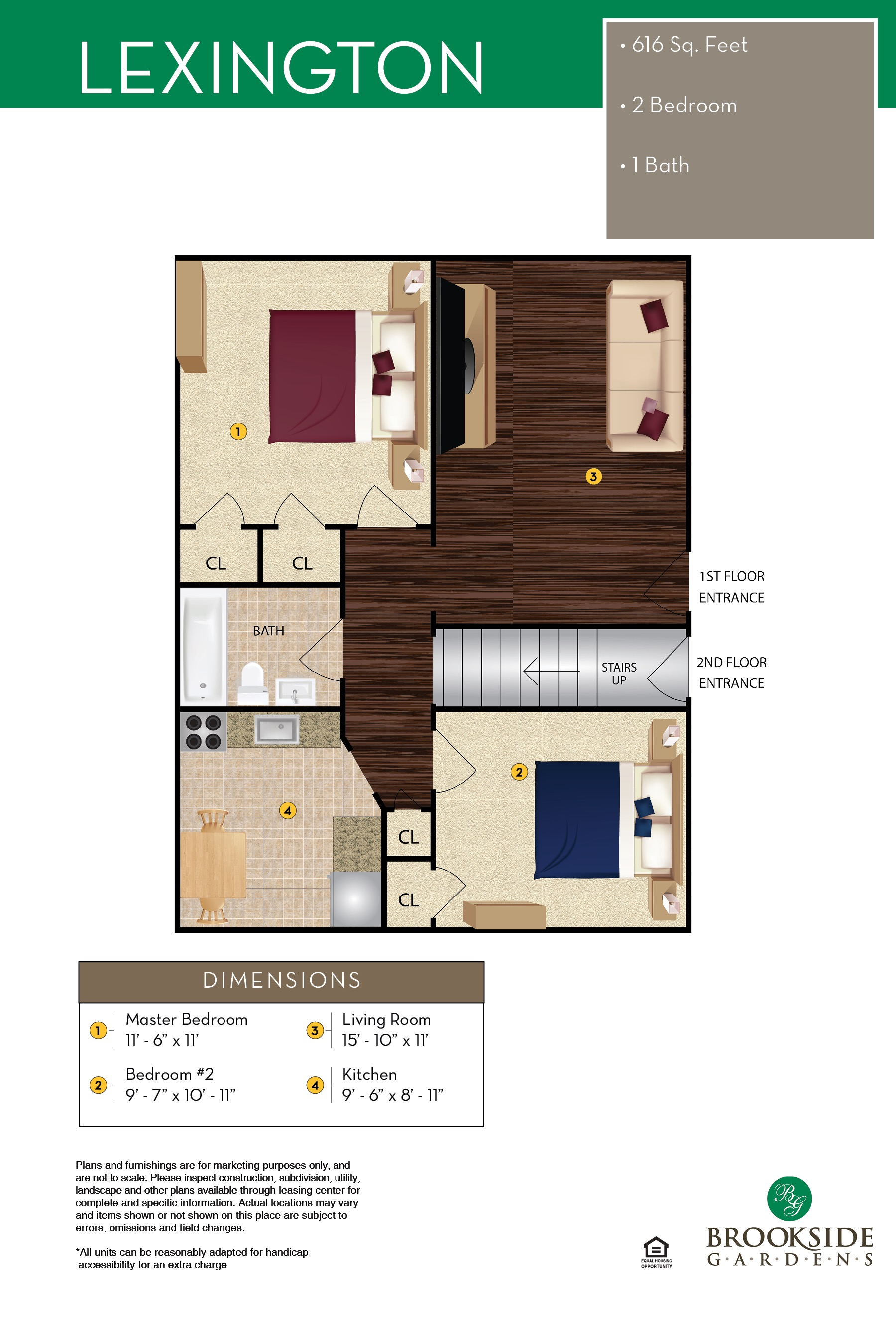 Brookside Gardens Lexington Floor Plans