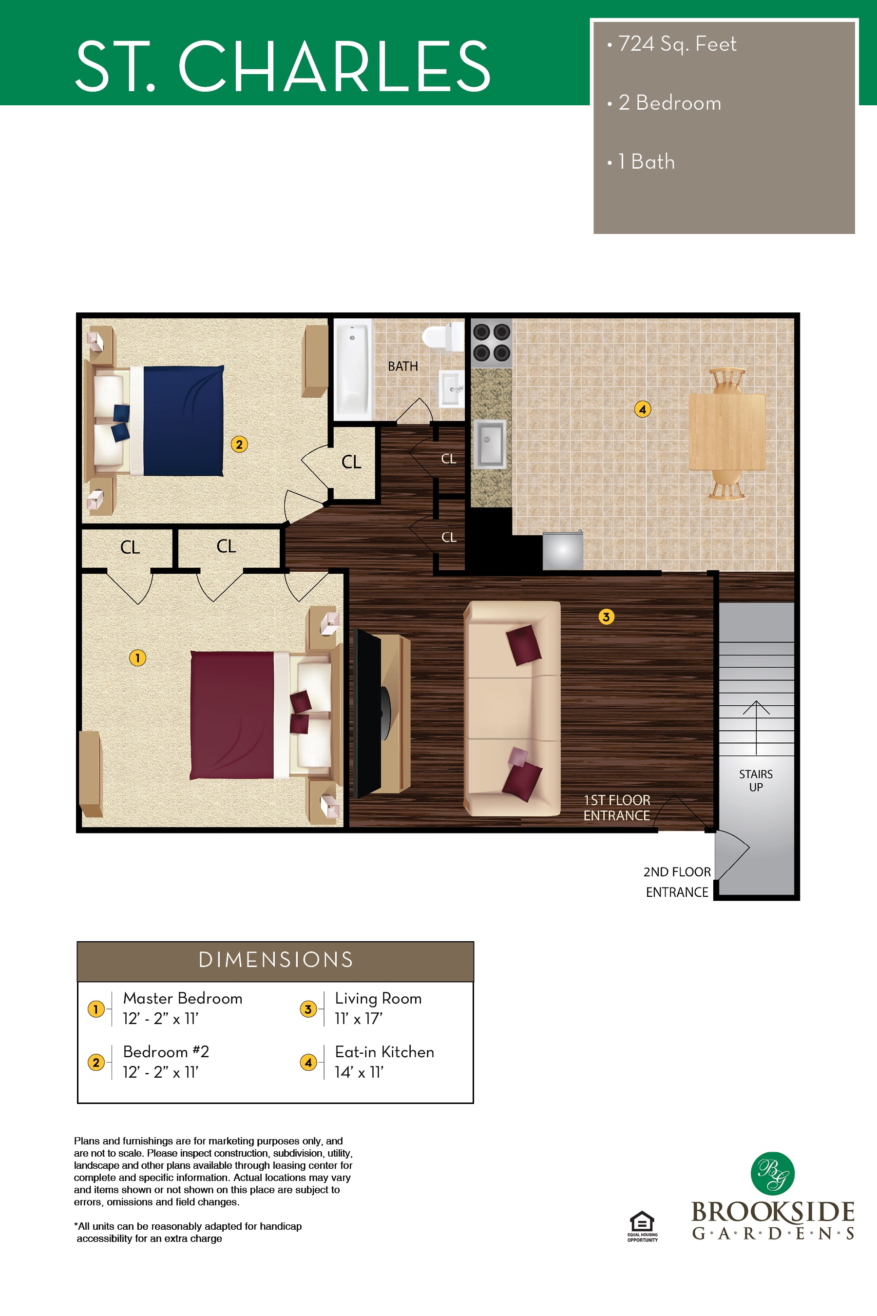 Brookside Gardens St. Charles Floor Plans