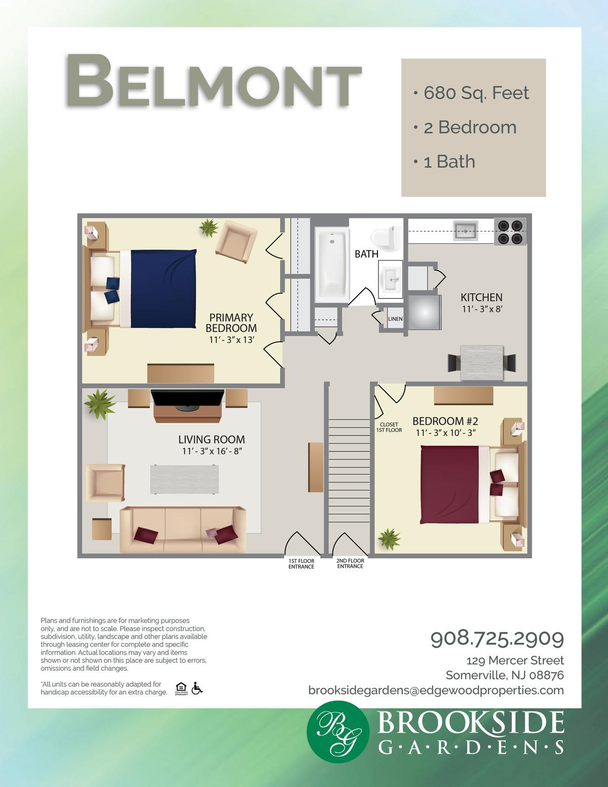 Brookside Gardens Belmont Floor Plans