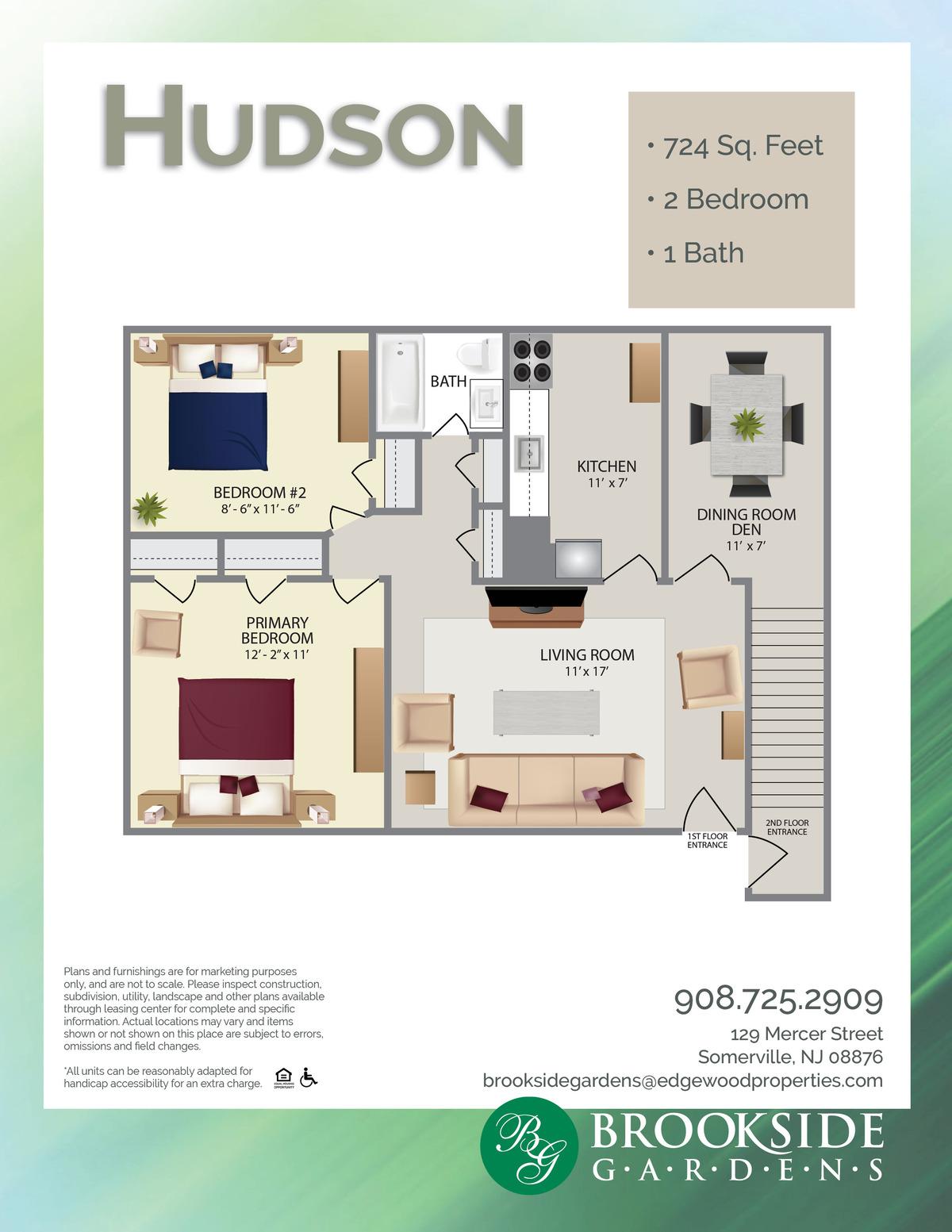Brookside Gardens Hudson Floor Plans
