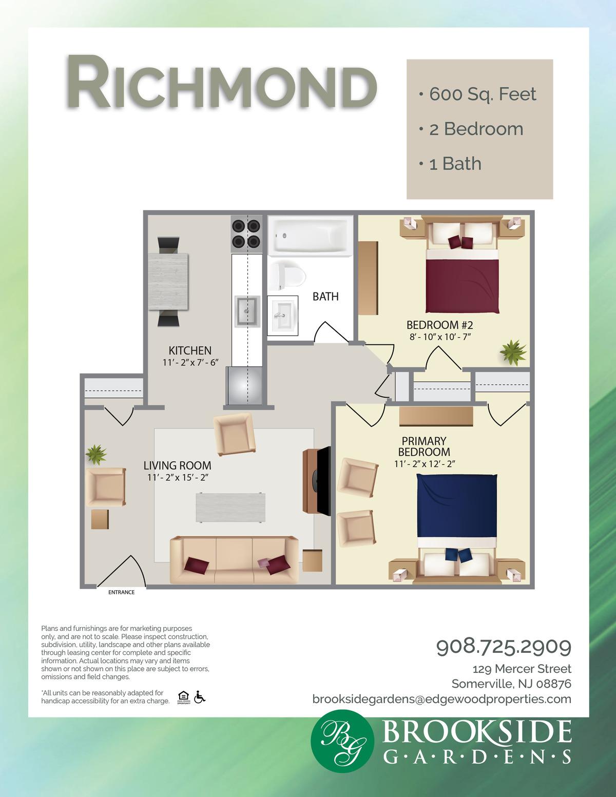 Brookside Gardens Richmond Floor Plans