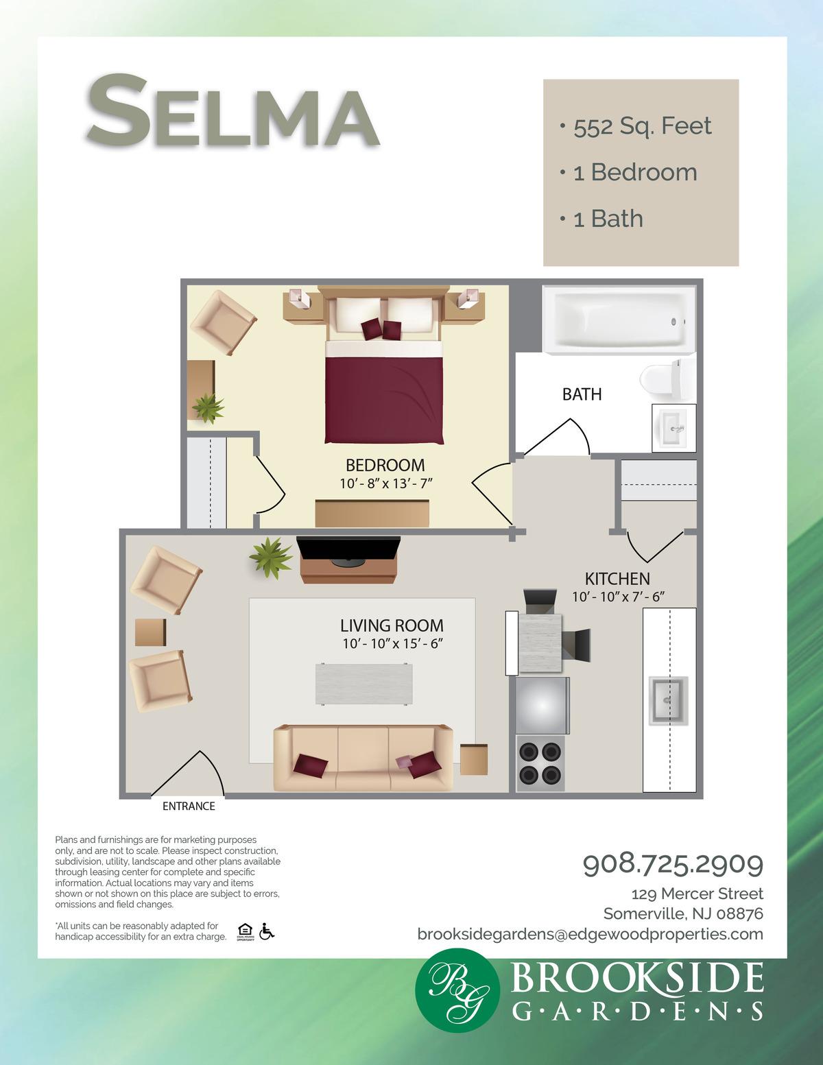 Brookside Gardens Selma Floor Plans